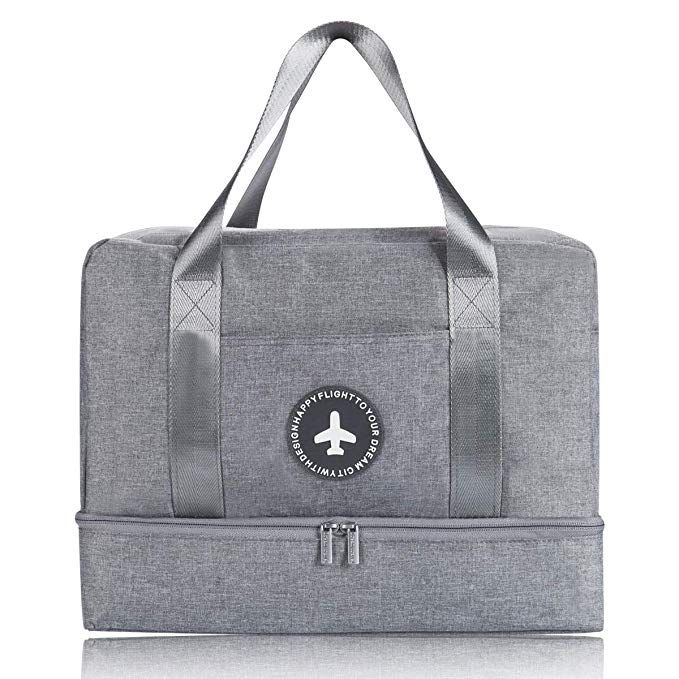 963dbbc97352 Amazon.com  H.K Gym Bag with Shoe Compartment and Wet Pocket Sports Gym Bag