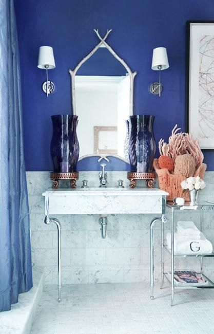 Charmant 30 Modern Bathroom Decor Ideas, Blue Bathroom Colors And Nautical Decor  Themes