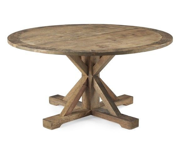 Reclaimed Wood Pine Round Table, Honey | Williams Sonoma