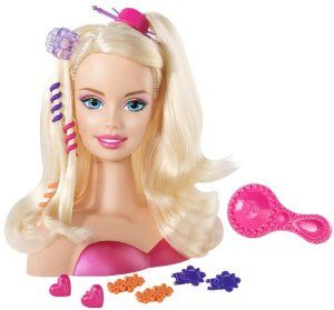 "Hairstyles Games Captivating Barbie Blonde Styling Head ""small""mattel$1378What Barbie Do"