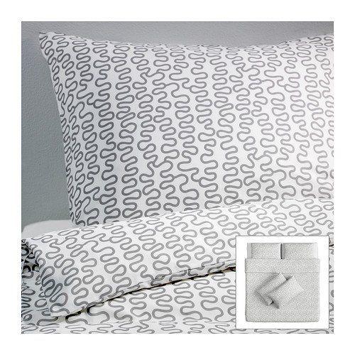 Ikea Krakris Quilt Cover And 4 Pillowcases Grey White Duvet Sets Quilt Cover Pillow Cases