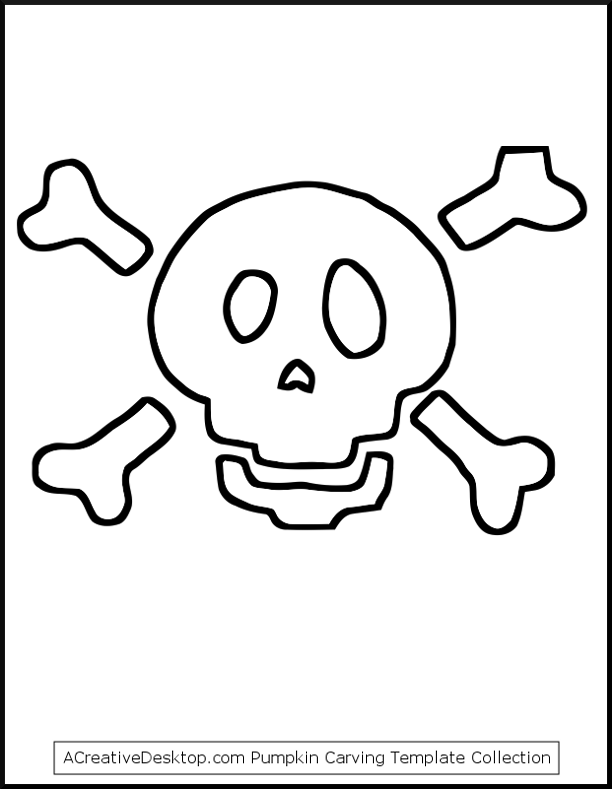 Skull Crossbones For Pumpkin Carving But I Think Would Be Great To Use As Fabric Applique Template