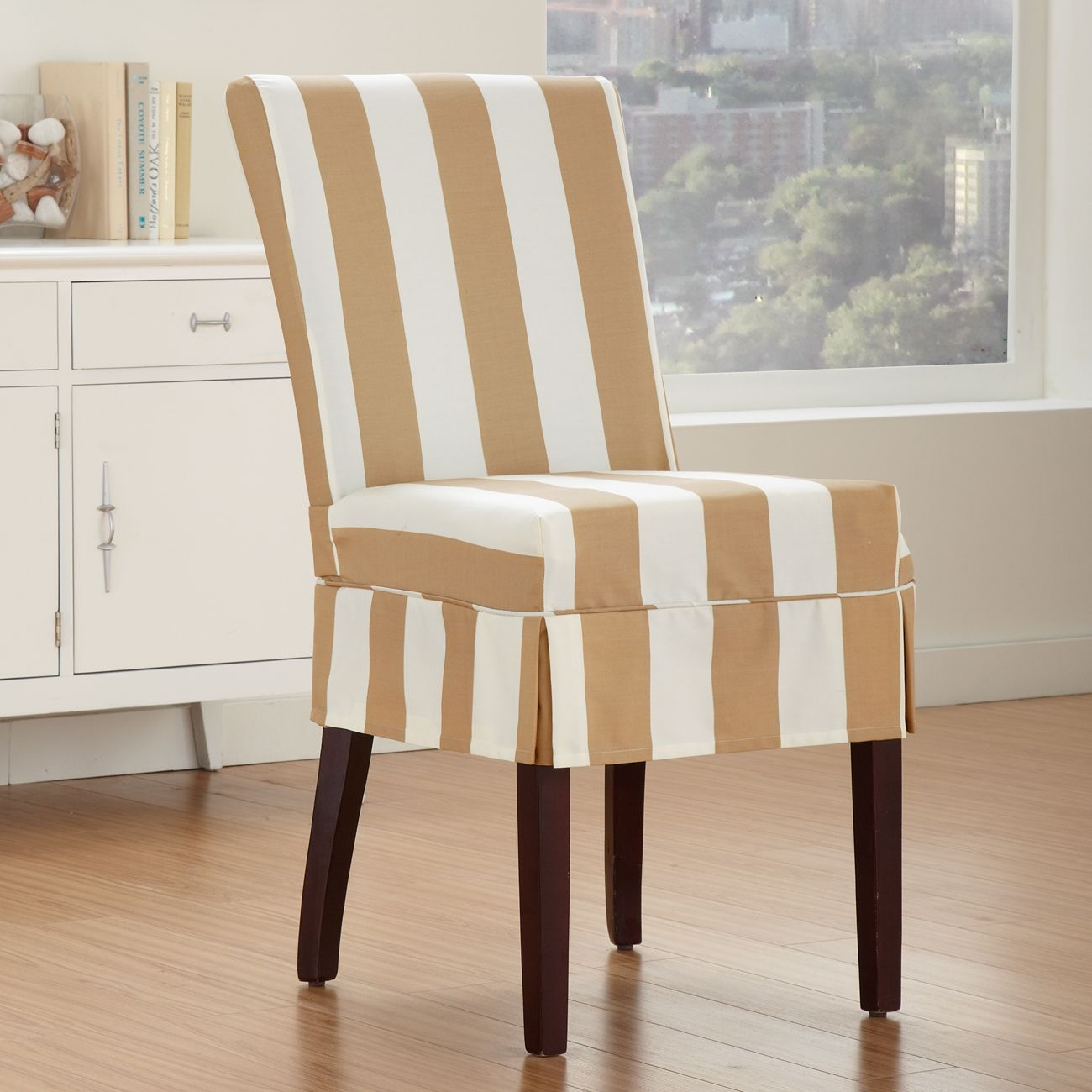 Beau Striped Chair Covers Dining Rooms