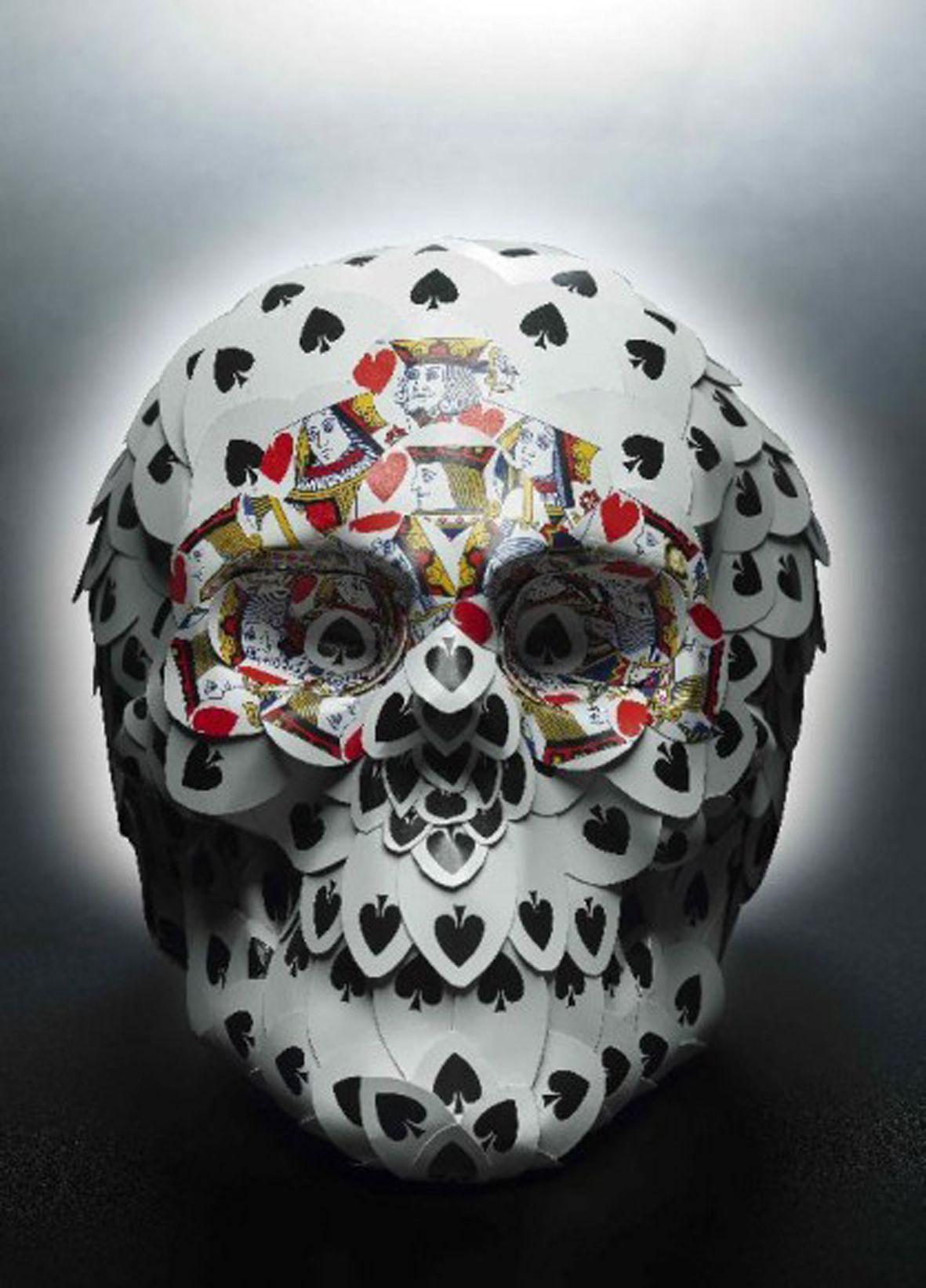 #skull #playingcards #nicolabolla #italianartist @stemaxeventi #stemaxeventi