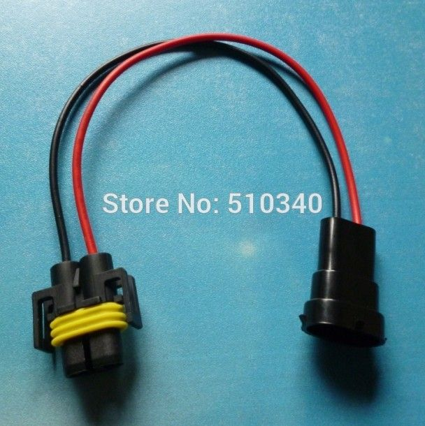 H8 H9 H11 Wiring Harness Car Wire Connector Cable Sockets Plug ...