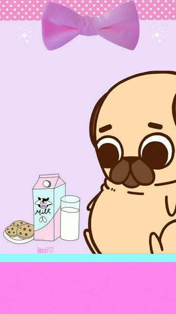 Kawaii Pug Wallpapers Kawaii Pugs Kawaii Cute