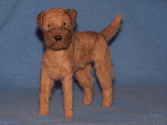 Border Terrier Needle Felted Dog Custom Made To Order Felt Dogs