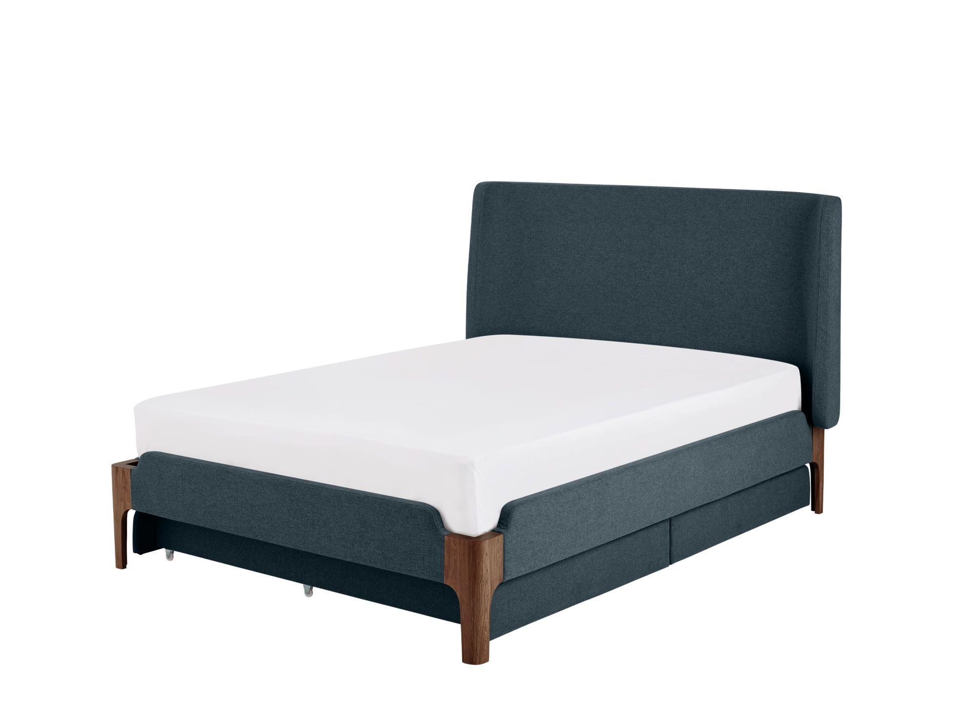 Wohndesign schlafzimmer einfach roscoe polsterbett mit stauraum  x  cm Ägäisblau  bed room