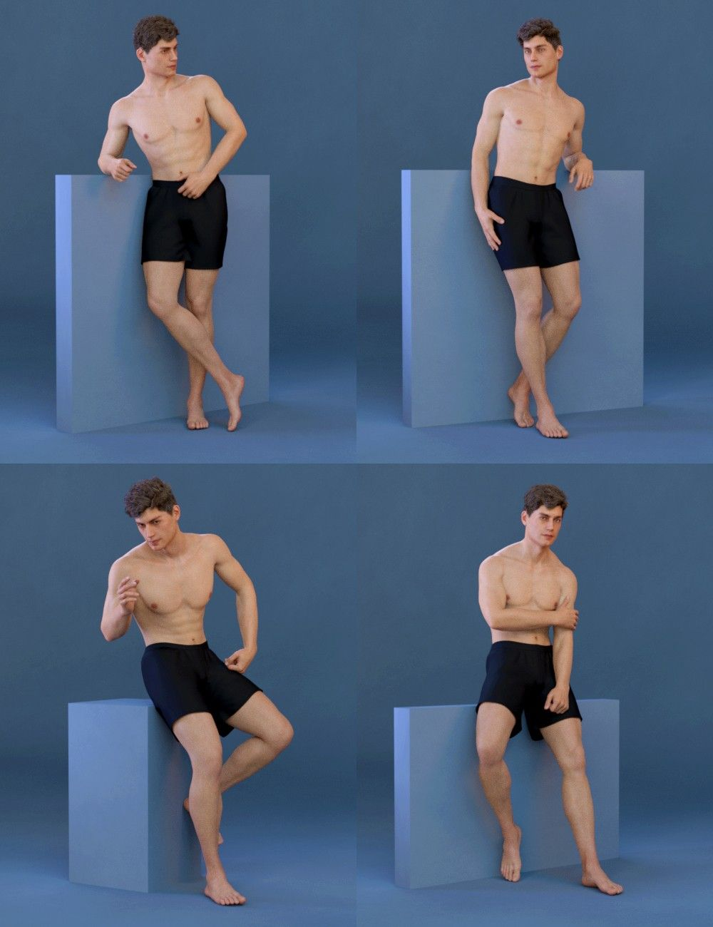 Capsces Model Poses for Genesis 8 Male and Michael 8 | 3D Models and 3D Software by Daz 3D #posereference