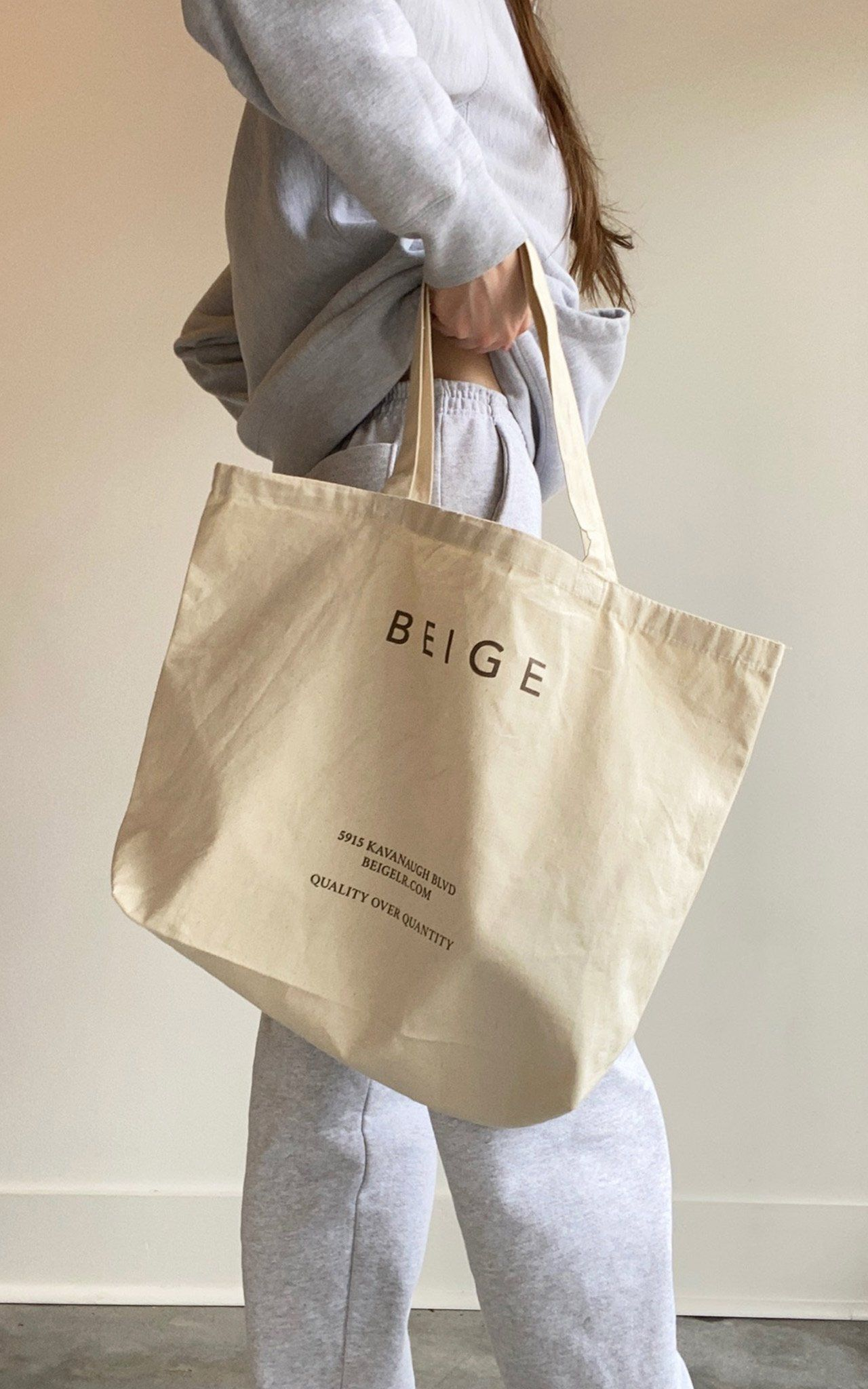 BEIGE LIMITED EDITION REUSABLE TOTE