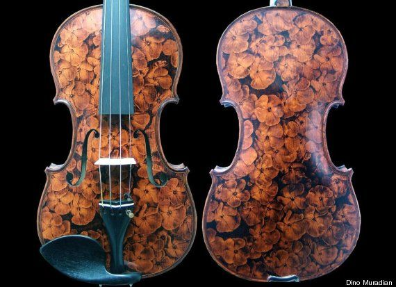 Pyrography Artist Dino Muradian Paints Masterpieces With Heat Photos Interview Huffpost In 2020 Violin Pyrography Guitar Painting