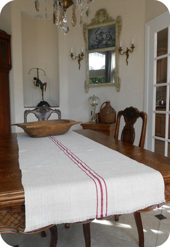 Ordinaire Hey, I Found This Really Awesome Etsy Listing At  Https://www.etsy.com/listing/95563333/vintage French Grain Sack Table Runner
