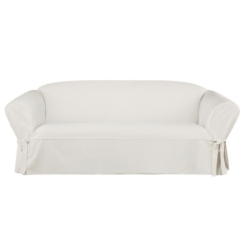 Super Essential Twill Sofa Slipcover White Sure Fit The Burrow Pdpeps Interior Chair Design Pdpepsorg
