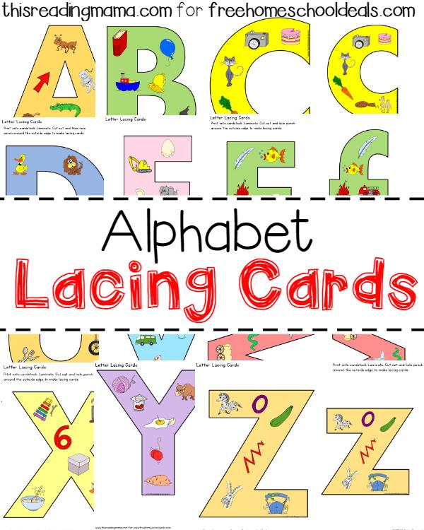 Free Alphabet Lacing Cards Instant Download Alphabet Activities