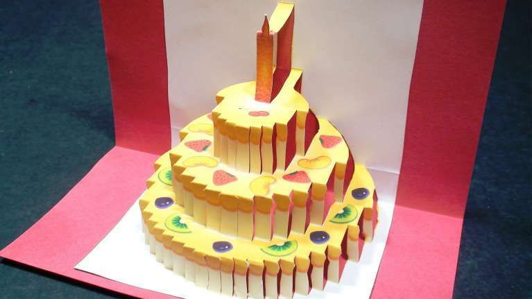 Stupendous 3D Origami Birthday Cake Instructions Elegant 3D Origami Funny Birthday Cards Online Alyptdamsfinfo