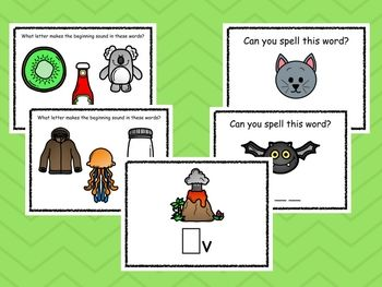 Phonics practice for young students! Students can practice finding the matching uppercase letter, the beginning sound, and spelling some CVC words.