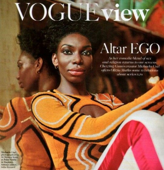 """Chewing Gum"" actress & creator Michaela Coel in Vogue Magazine"