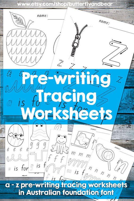 Tracing Worksheets #kindergarten #school #worksheets #tracing #etsy ...