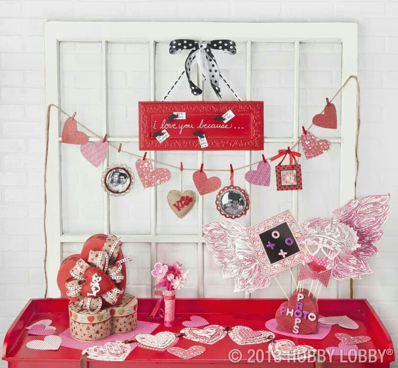 Cant wait to do my lil Valentine's Day set up. :-)