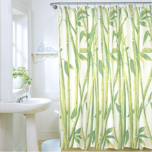 180 X 180cm Bamboo Forest Waterproof Fabric Bathroom Shower
