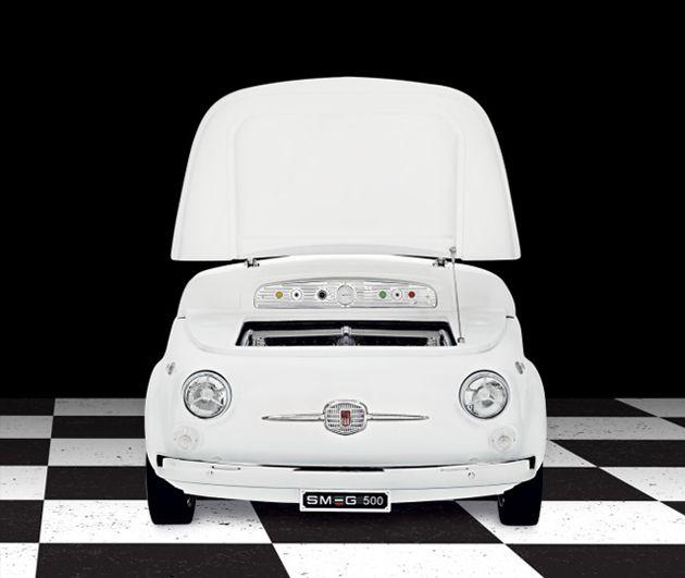 Le Smeg 500 Un Frigo Fiat 500 Fiat 500 Pinterest Fiat