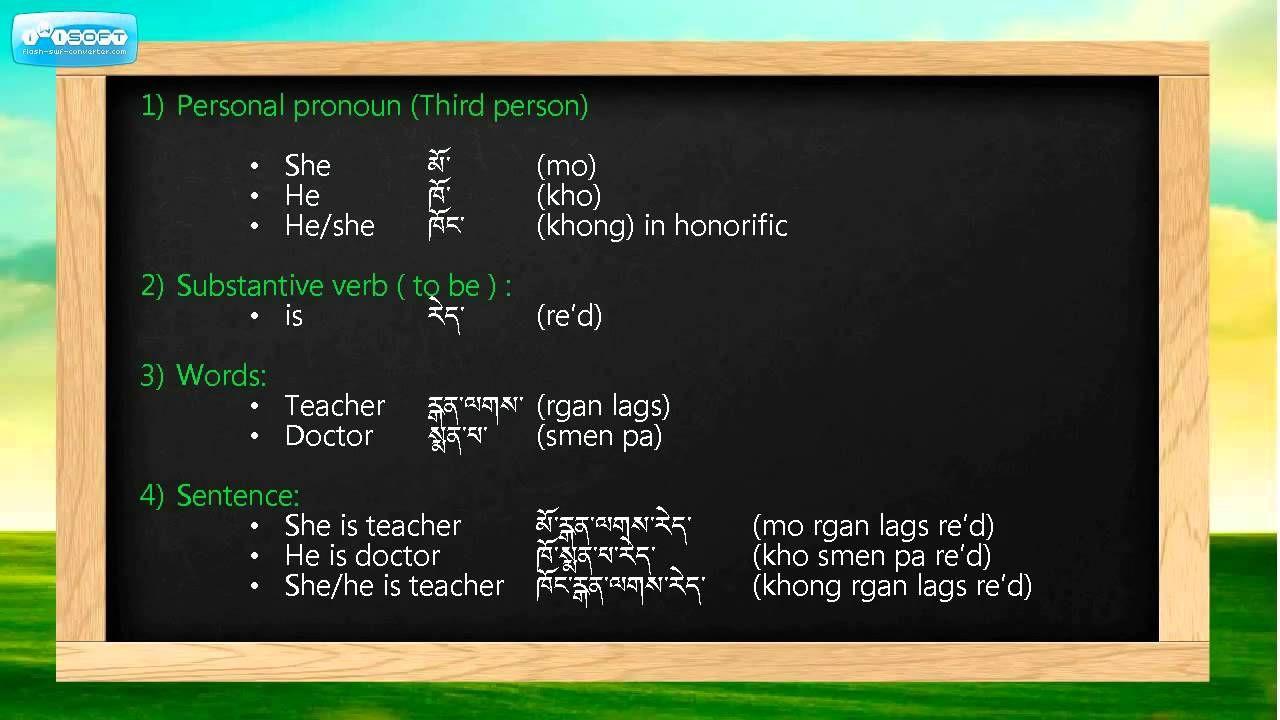 Learn To Speak In Tibetan-Unit 1(b)