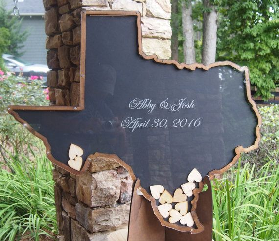 Texas State Shaped Drop Heart Large By Misterguestbook On Etsy