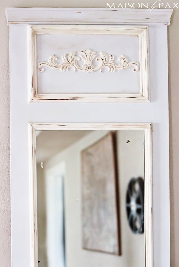 DIY Trumeau Mirror tutorial: step by step instructions on how to build your own | maisondepax.com #frenchvintage #DIY