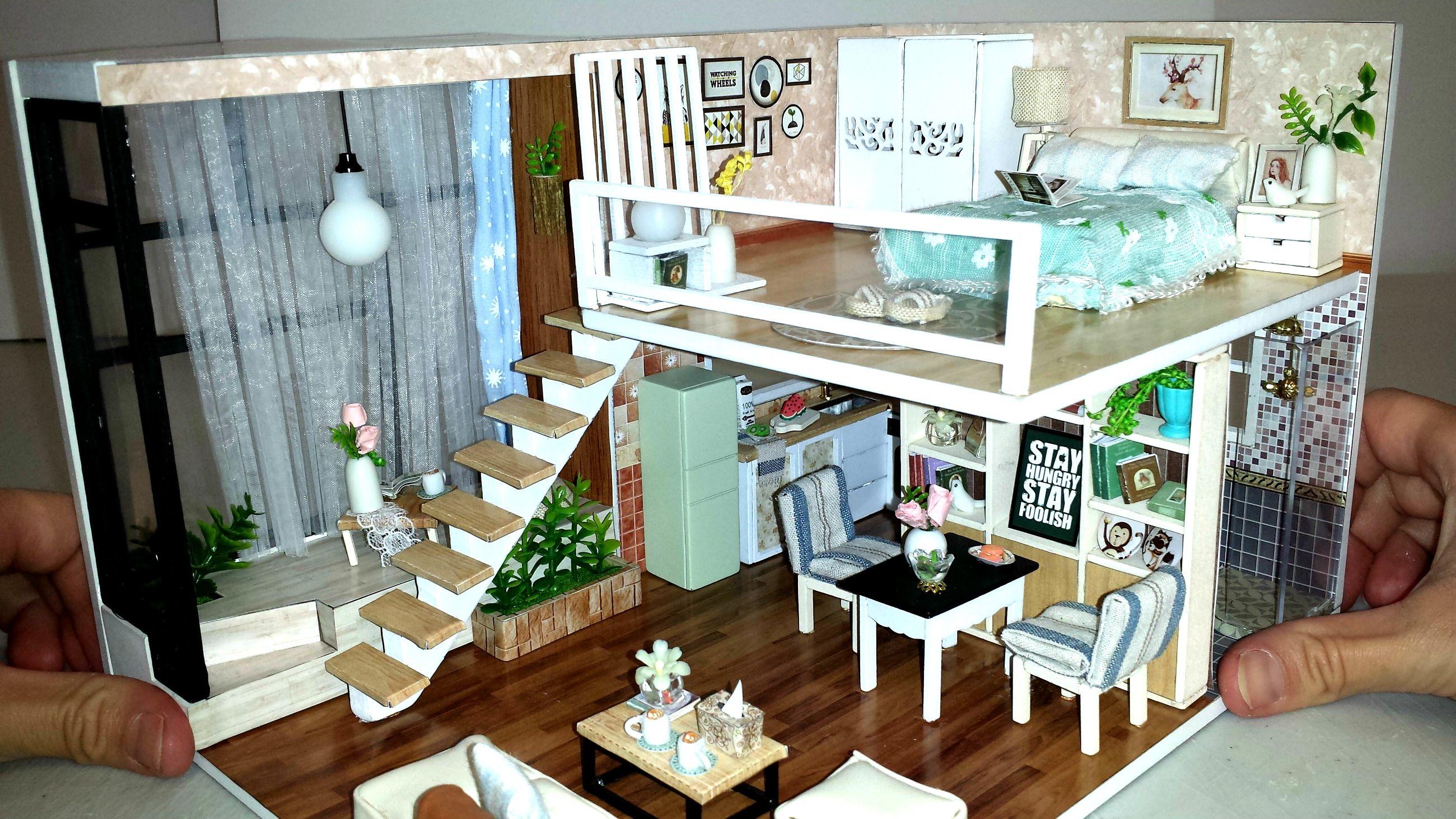 5 Diy Miniature Dollhouse Rooms Build A Dollhouse Dollhouse