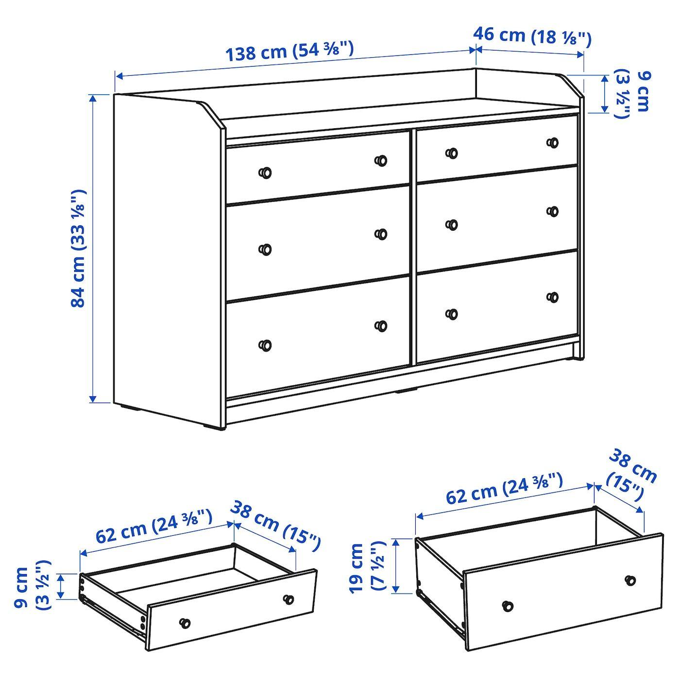 Hauga 6 Drawer Dresser Gray 543 8x331 8 Ikea In 2021 Dresser Drawers 6 Drawer Dresser Drawers [ 1400 x 1400 Pixel ]