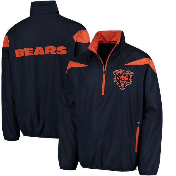 Chicago Bears G-III Sports by Carl Banks Tailback Half-Zip Pullover Jacket - Navy - $64.99