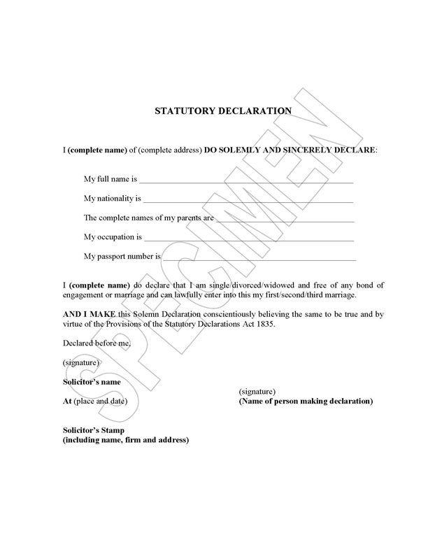 Declaration translators translation certification letter declaration translators translation certification letter authorization sample birth certificate yadclub Images