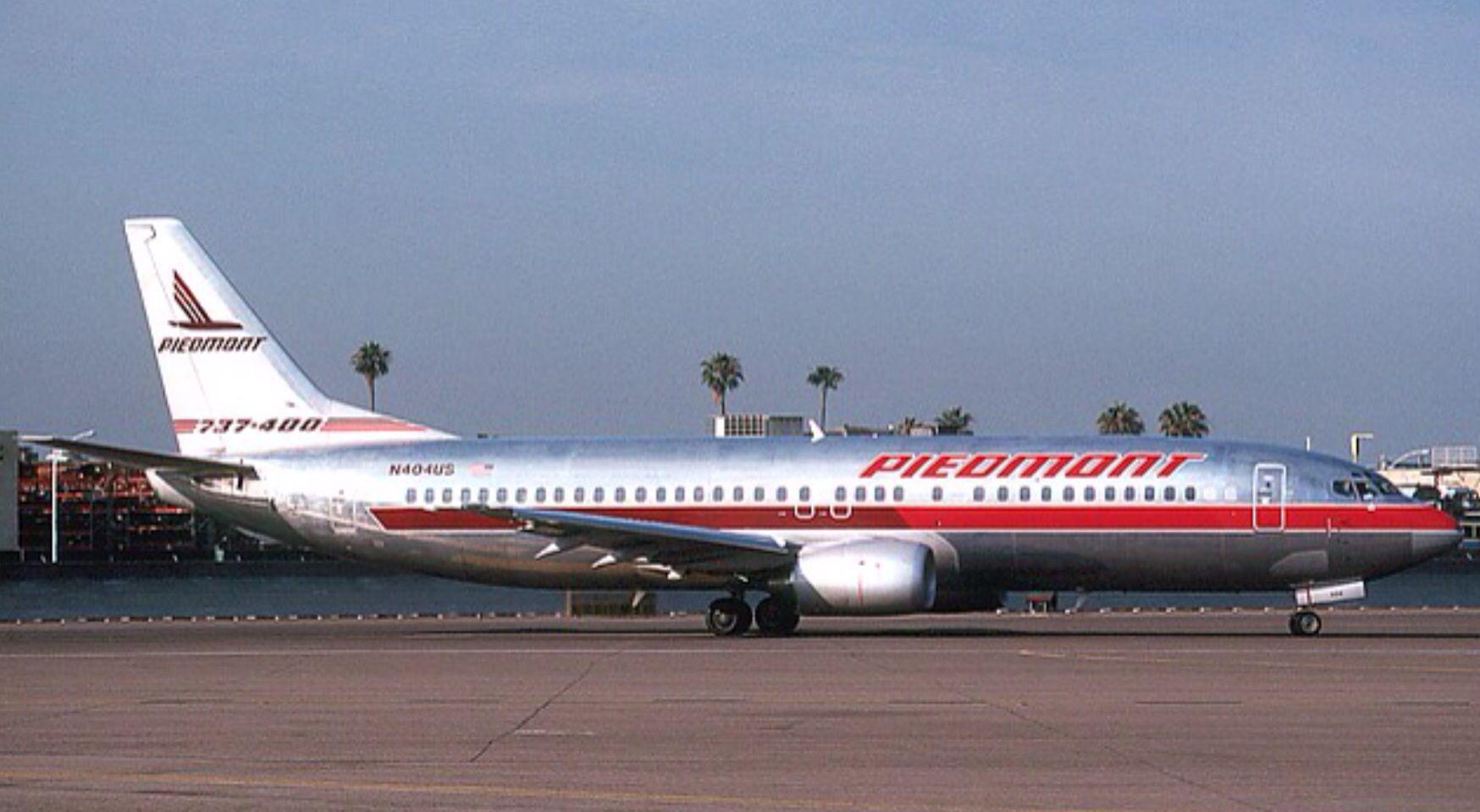 Piedmont Airlines 737 300 1987 Airlines Piedmont