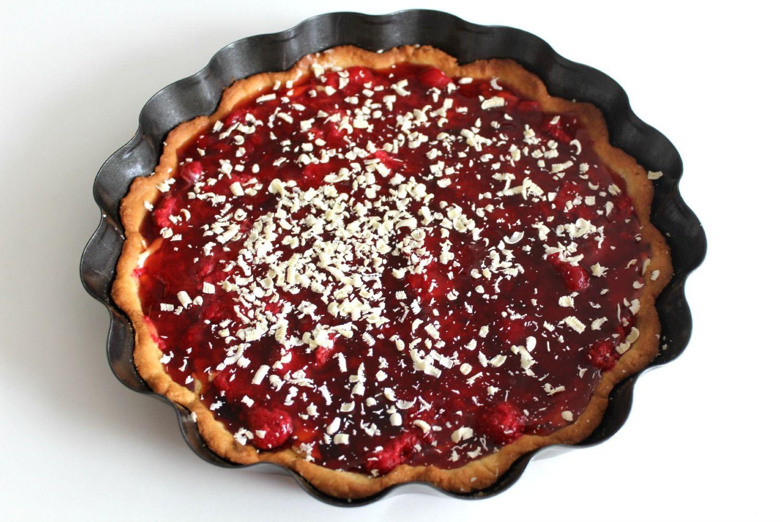 Sabrina's Køkken: Hindbærtærte m/ lakrids og hvid chokolade