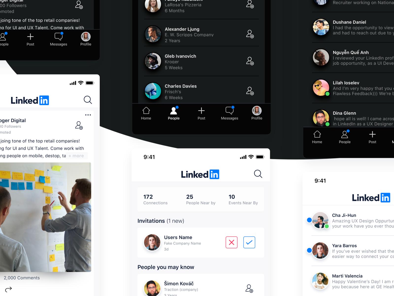 LinkedIn Redesign iOS