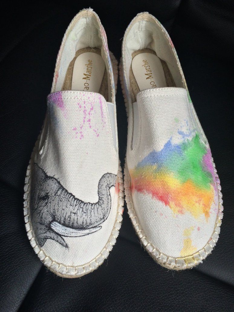 Hand painted Elephant shoes by dannyPs-customs on DeviantArt  7ced3990e