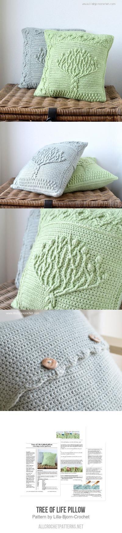 Tree of Life Pillow crochet pattern by Lilla Bjorn Crochet   Pillows