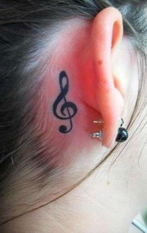 Simple Music Note Tattoo Behind The Ear Cowgirl Countrygirl Tattoo Tattoos Cowgirltattoo Cowgirltattoos Co Small Tattoos Music Tattoos Behind Ear Tattoo