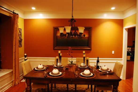dining room color | orange accent walls, orange living rooms and