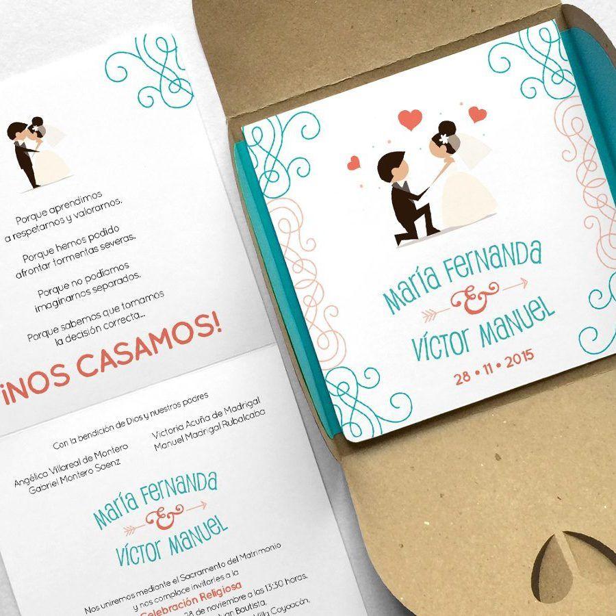 Invitación para Boda Casual Modelo Naveen | Invitacion boda originales,  Texto invitaciones de boda, Invitaciones de boda