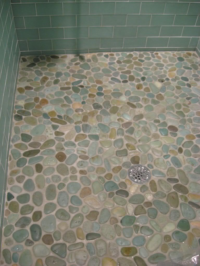 Image result for shower floor pebbles mexican design ideas tile flooring bathroom heavenly bathroom and shower decoration using light pebble tile shower pebble tile pebble tile shower floor attractive pebble tile dailygadgetfo Images