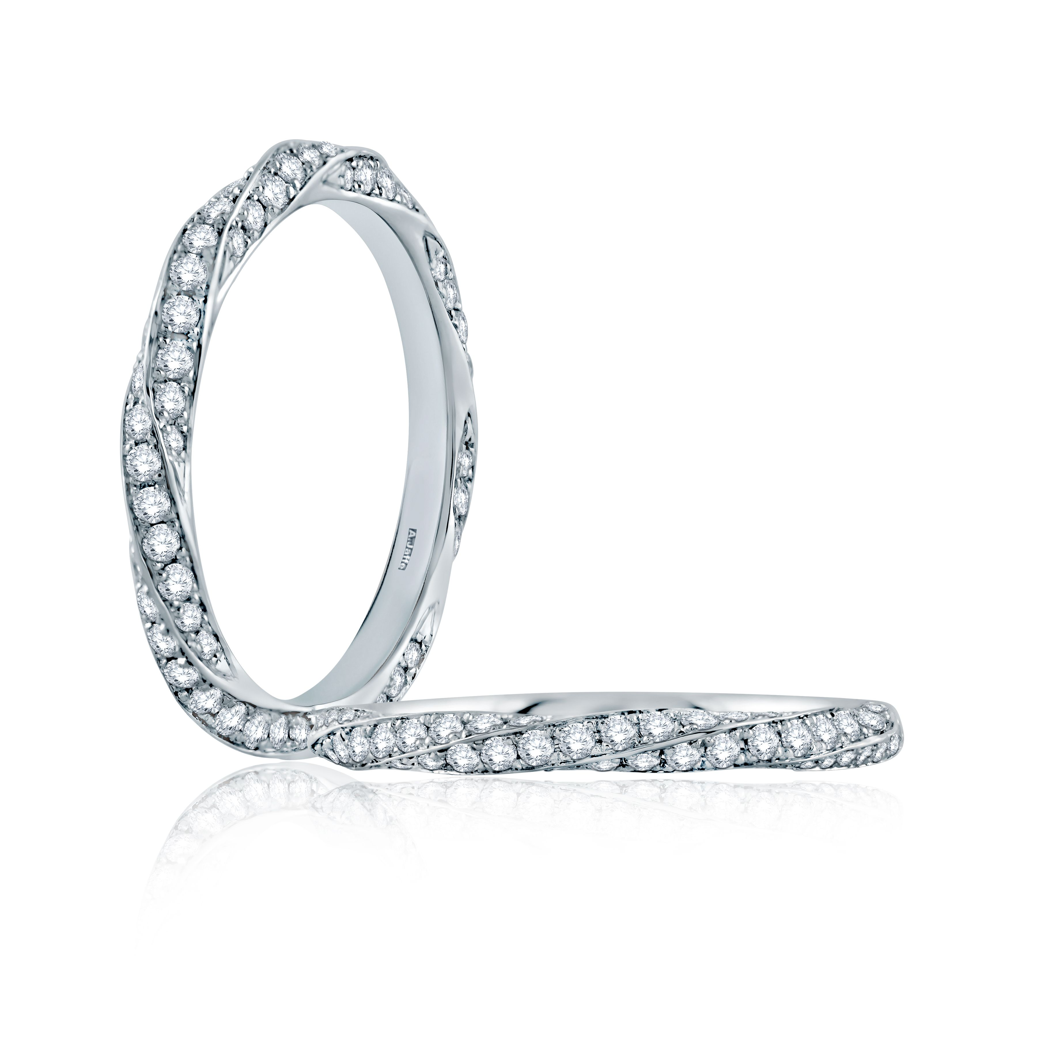 A JAFFE stackable diamond band style WR1040