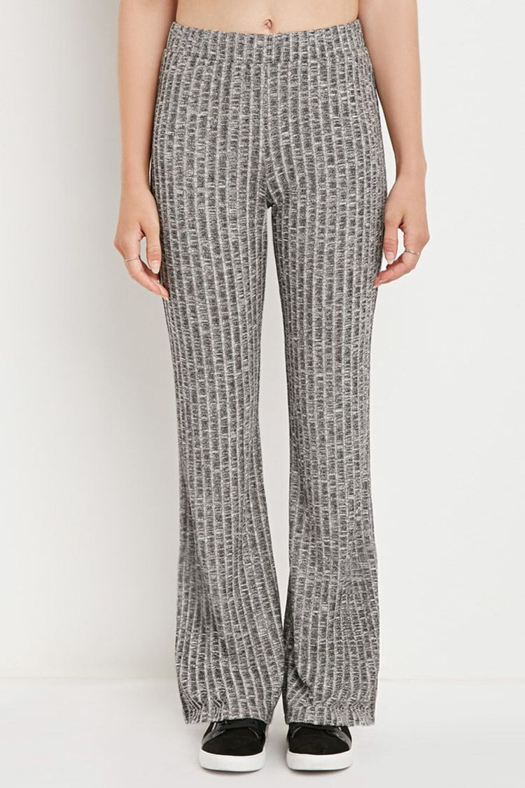 a5b01491 Ribbed Knit Flared Pants | Ribbed knit flare pants | Flare Pants ...