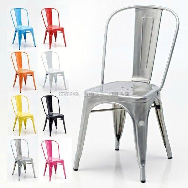 Retro Cafe Side Stuhl Vintage Einrichtungen Metallstuhle Bistro Stuhle