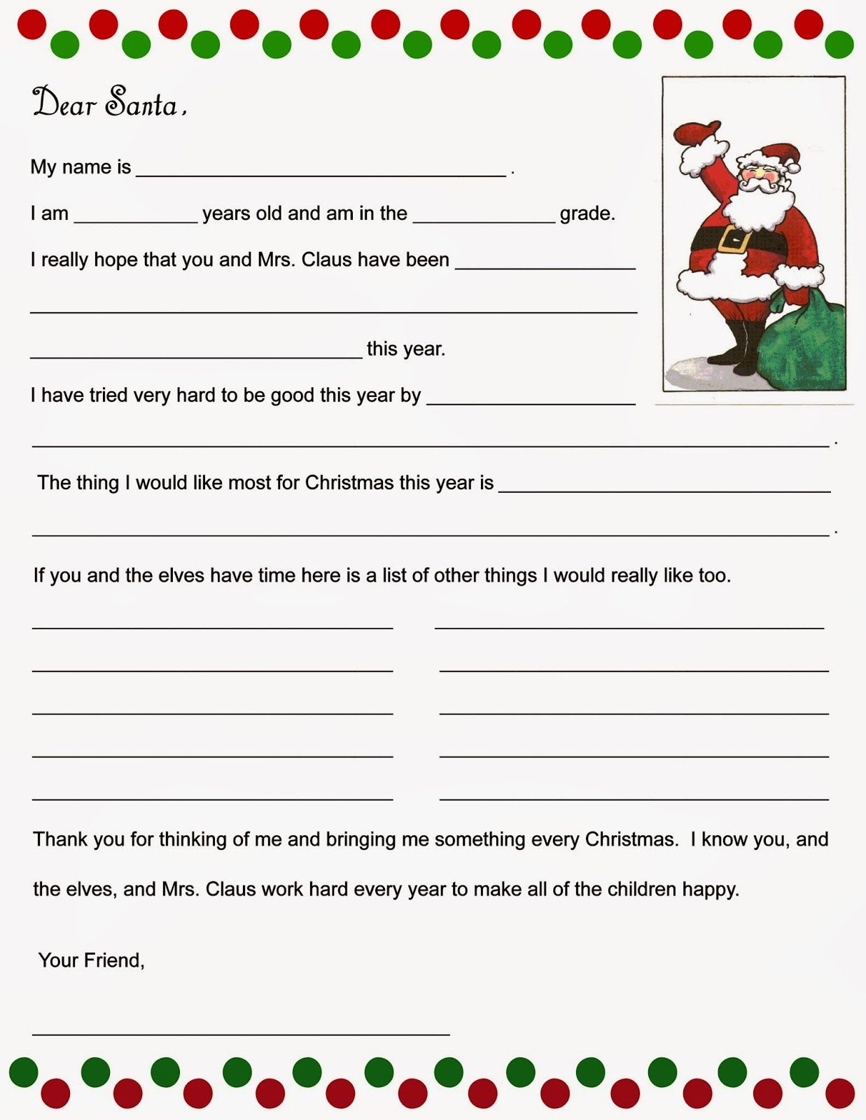 Christmas Time Is Rapidly Approaching Once Again And I Put Together A Couple Of Fun Things For My Kids Santa Letter Template Christmas Wishes Letters For Kids