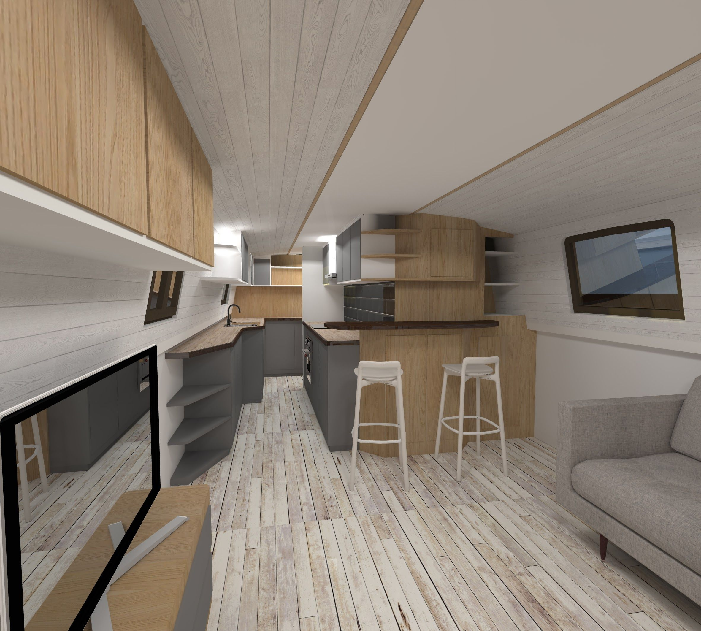 Image result for bespoke narrowboat interiors | boat ideas ...
