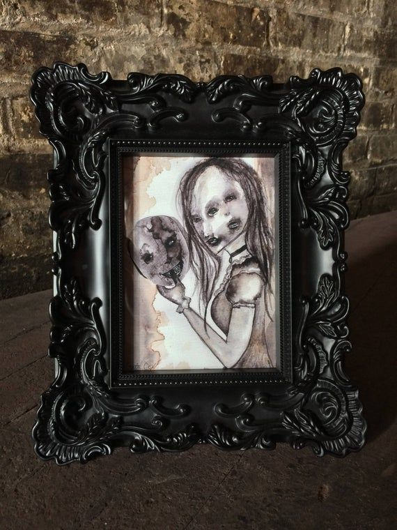 Gothic Home Decor_Horror Decor_Halloween Decor_Conceptual Art_Art Prints_Gothic Art_Creepy Art_Watercolor Print_Dark Art #gothichome