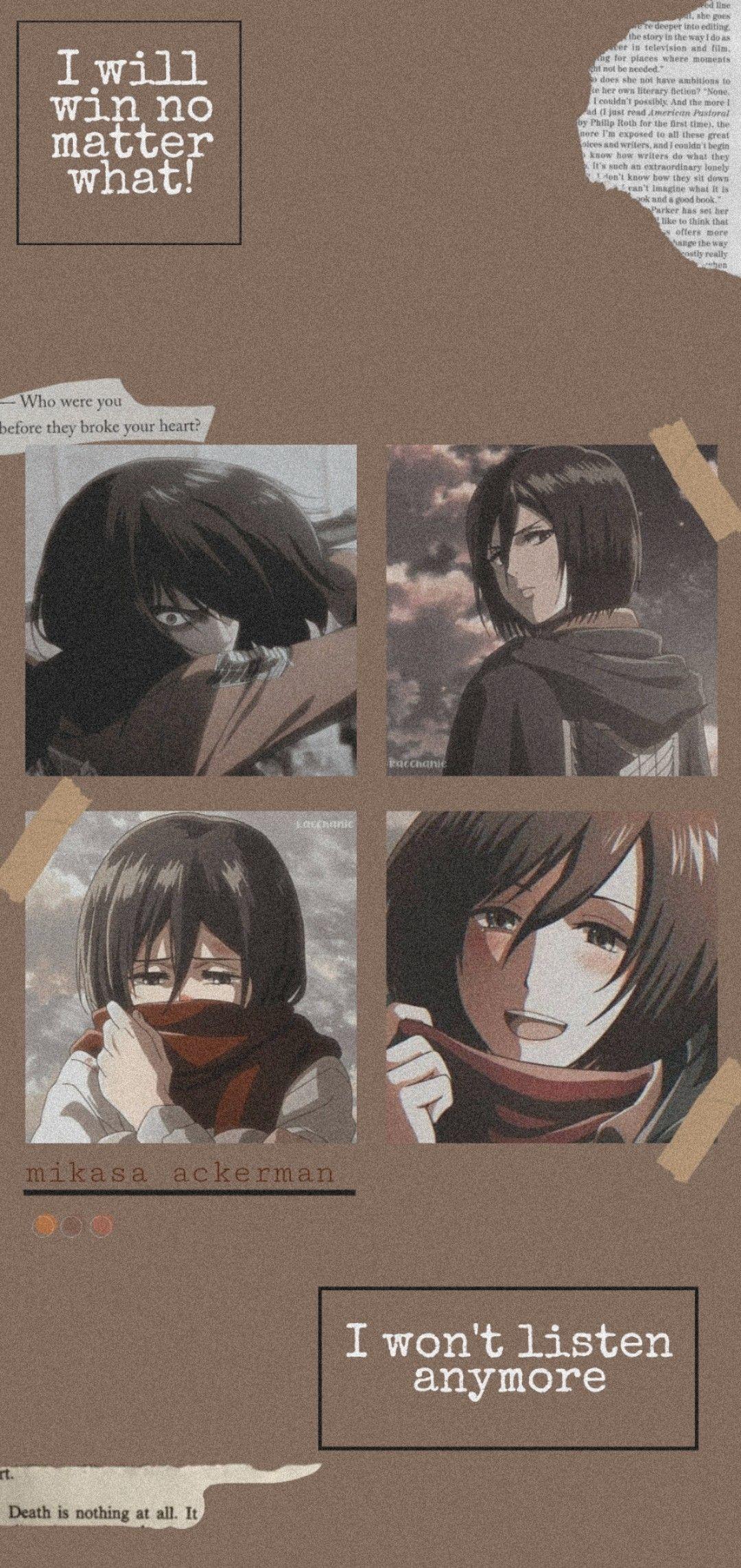 Mikasa Ackerman Wallpaper Seni Anime Ilustrasi Karakter Ilustrasi