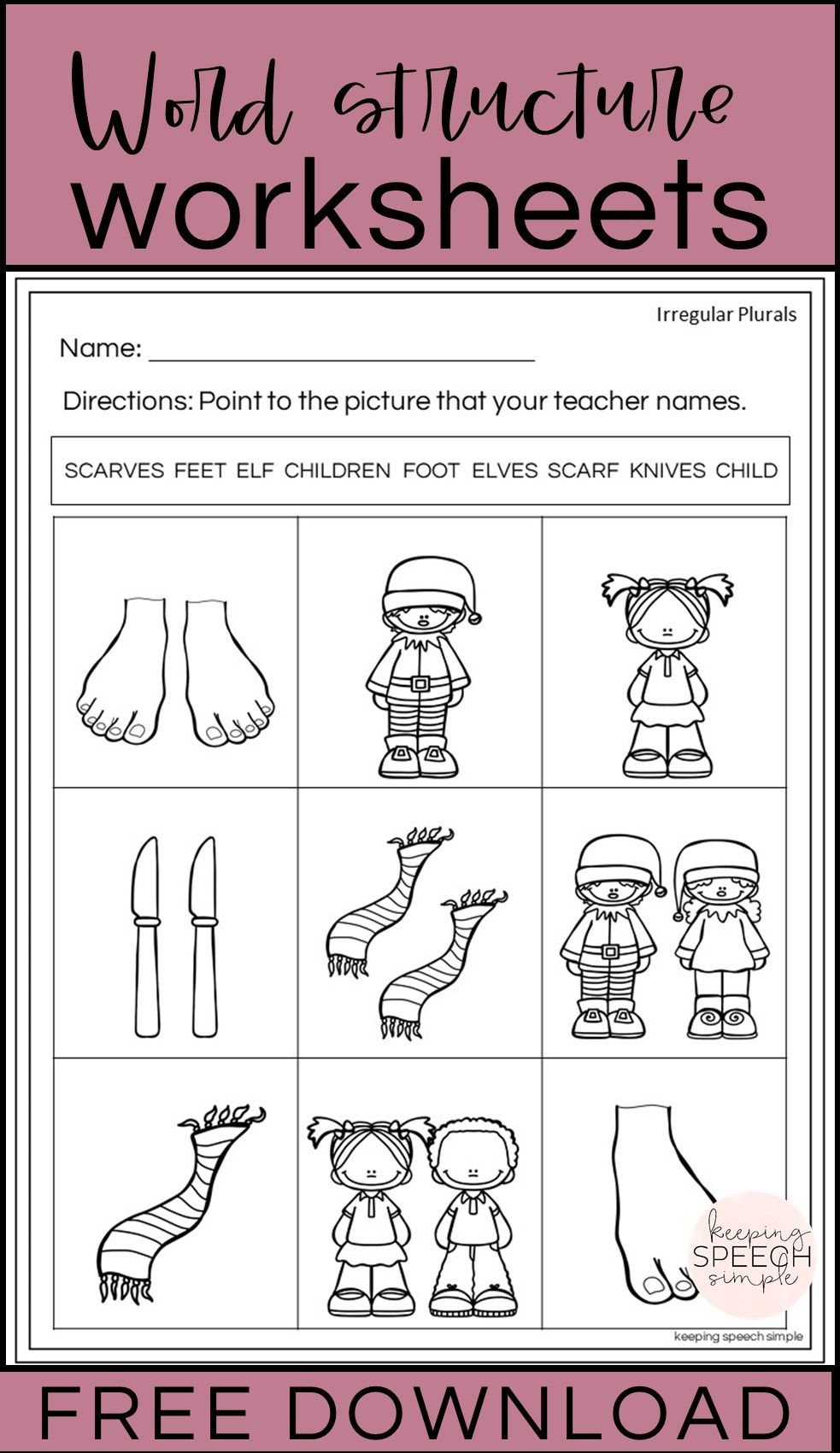 Word Structure Worksheets Free Sample In 2021 Word Structure Language Worksheets Language [ 1701 x 983 Pixel ]