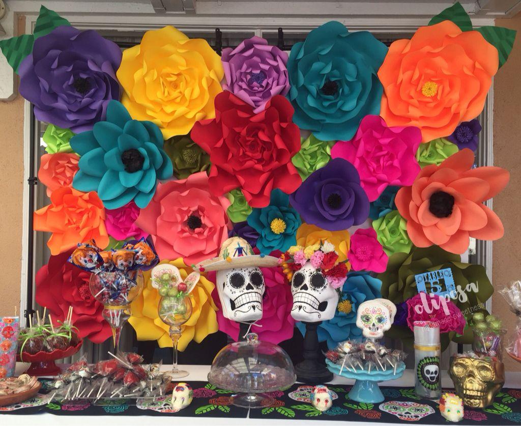 Fiesta dia de los muertos paper flower backdrop paper flowers and fiesta dia de los muertos paper flower backdrop mightylinksfo Choice Image
